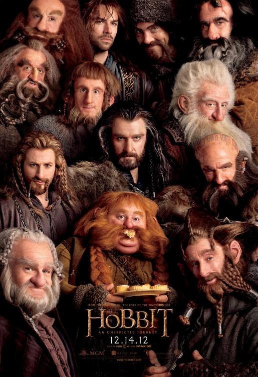 nouvelle affiche de The Hobbit. Il voit des nains partout