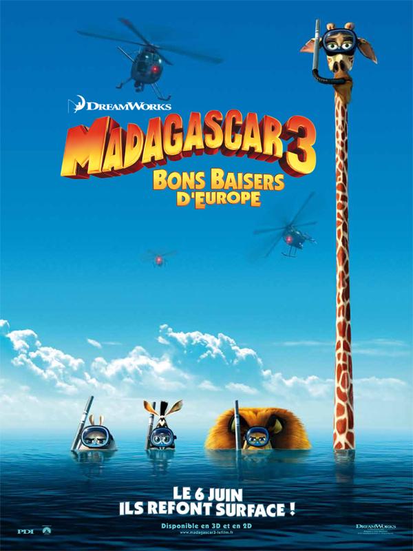 Affiche et bafr les personnages de - Girafe dans madagascar ...